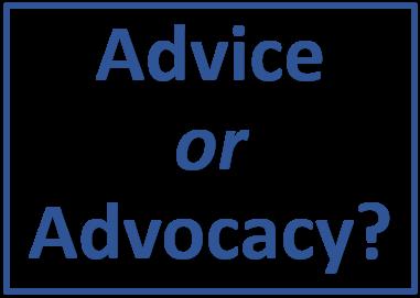 Advice-advocacy